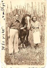 בני הדודים חיהלה ופייבל בשנת 1938