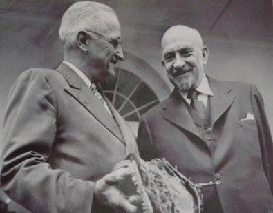 ויצמן והנשיא טרומן - מקור - מקומסמולסקיה פרבדה