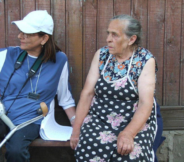 גילה בורקובסקי ואשת בנו של אלכסי